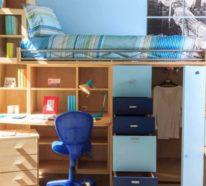 Kinderhochbetten-Ideen mit weiteren integrierten Funktionen