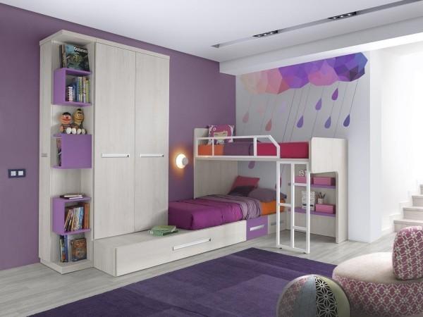 kinderhochbetten für lila zimmer