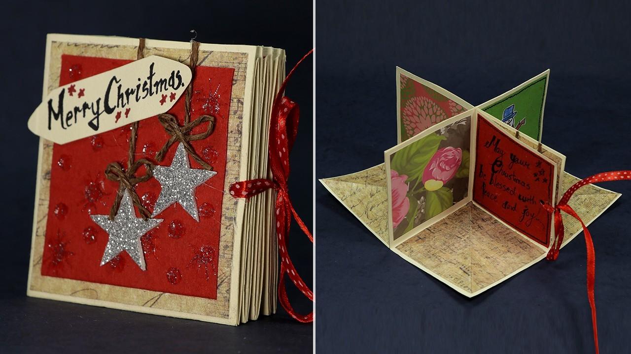 kleine heftchen weihnachtskarten basteln