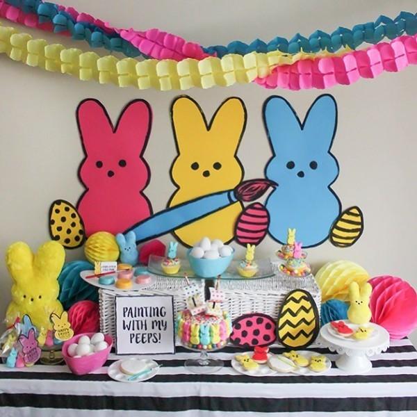 kleine kinder party basteln mit krepppepapier