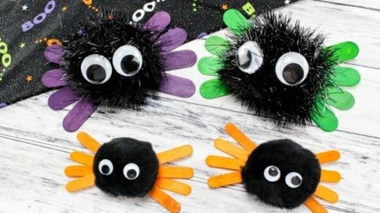 kleine spinne basteln zu halloween