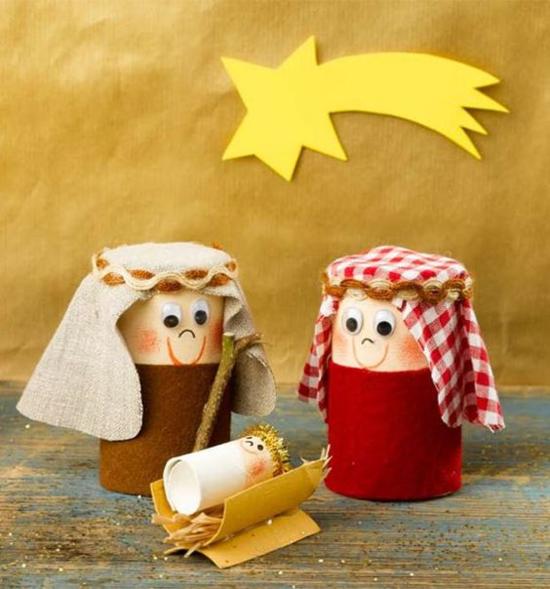 Basteln mit Klorollen zu Weihnachten - 60 einfache DIY ...