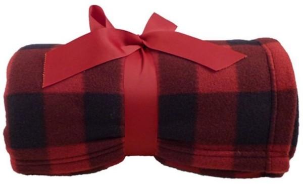 kuscheldecken rot braun und schwarz
