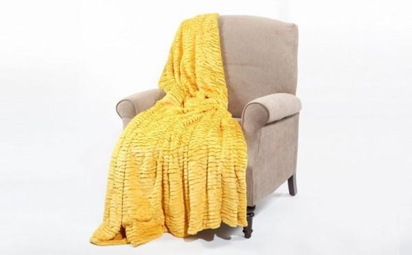 kuscheldecken strahlendes gelb