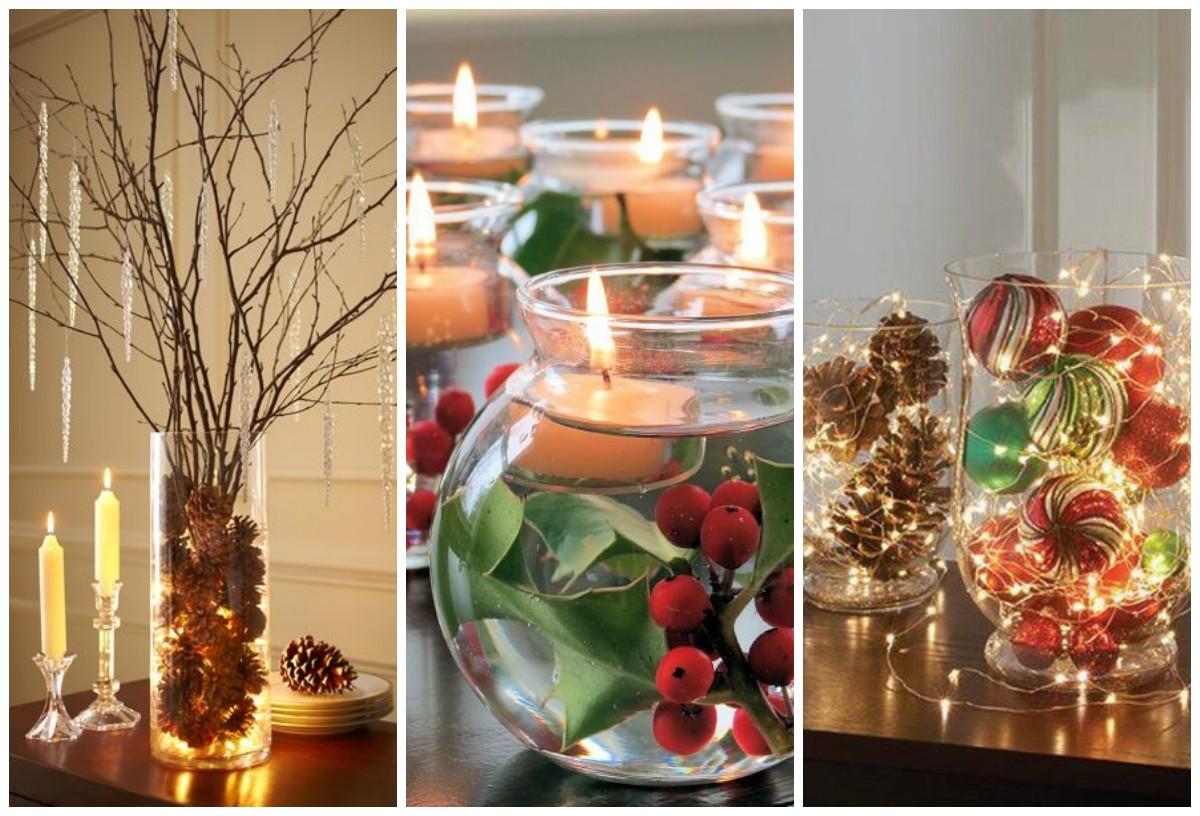 leuchtende dekoration wald ideen weihnachtsbastelideen