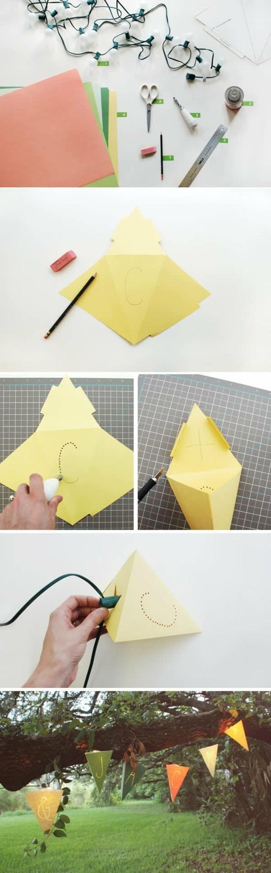 lichterkette basteln aus papier