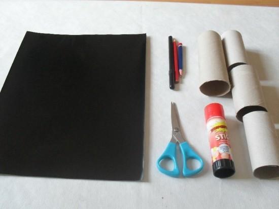 materialien diy ideen basteln mit klorollen