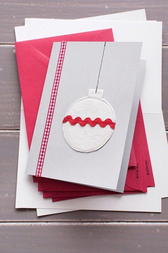 mehrere farben weihnachtskarten basteln