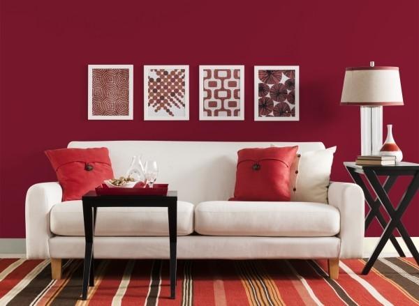 mehrere muster auch in rot farben wohnzimmer