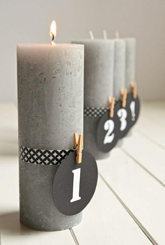 minimalistischen adventskranz selber basteln