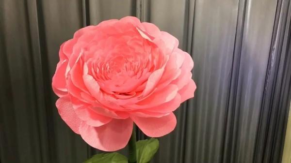 moderne rosa nuance basteln mit krepppepapier