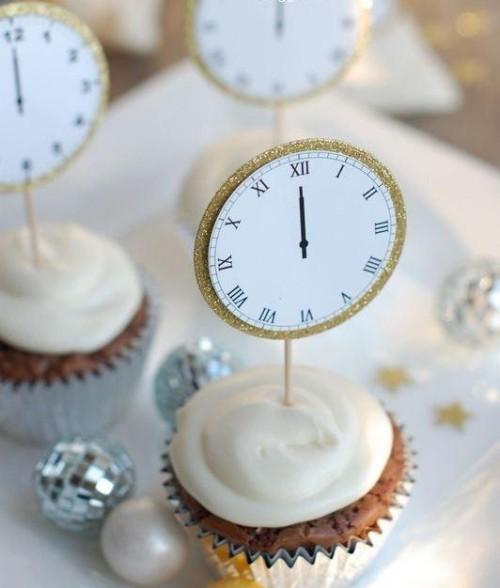 muffins mit uhren deko ideen