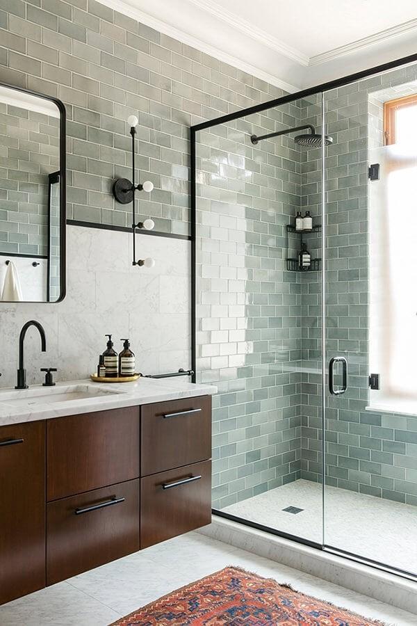 neutrale grünen muster badezimmergestaltung