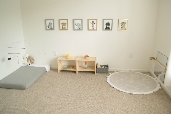 neutrales design montessori bett