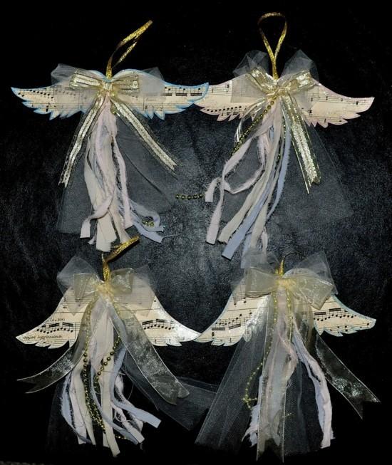 notenpapier tüll engel basteln