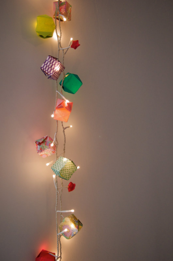 origami lichterkette basteln