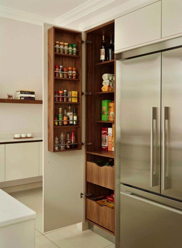 pantry küche holz regale ordnen