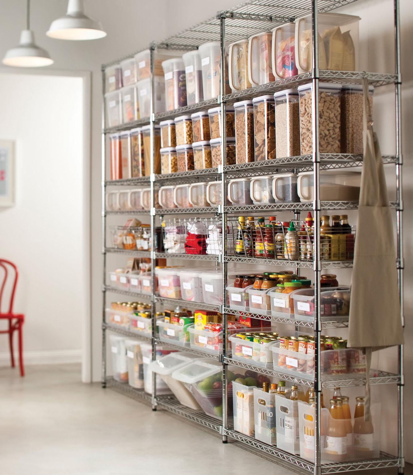 pantry küche regal aus edelmetall