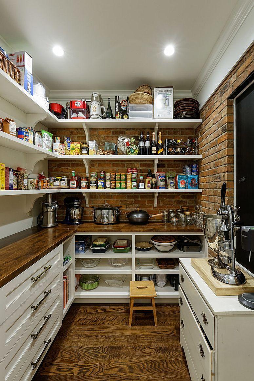 pantry küche regale an der wand