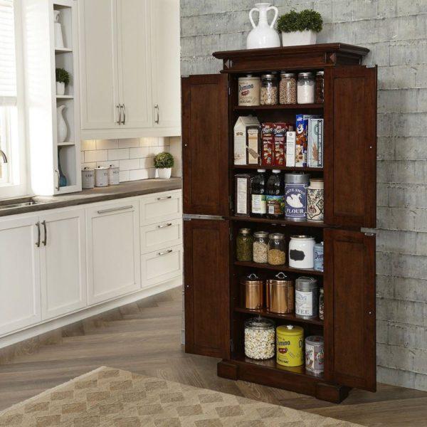 pantry küche staufläche aus holz