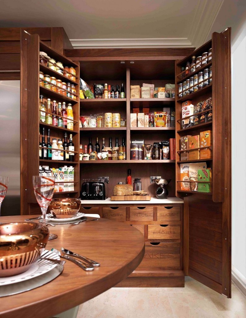 pantry küche stauraum aus holz