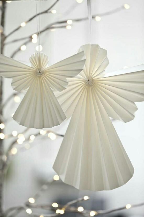 Engel basteln aus papier zu weihnachten