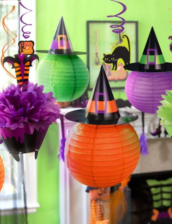 papier leuchten halloween deko