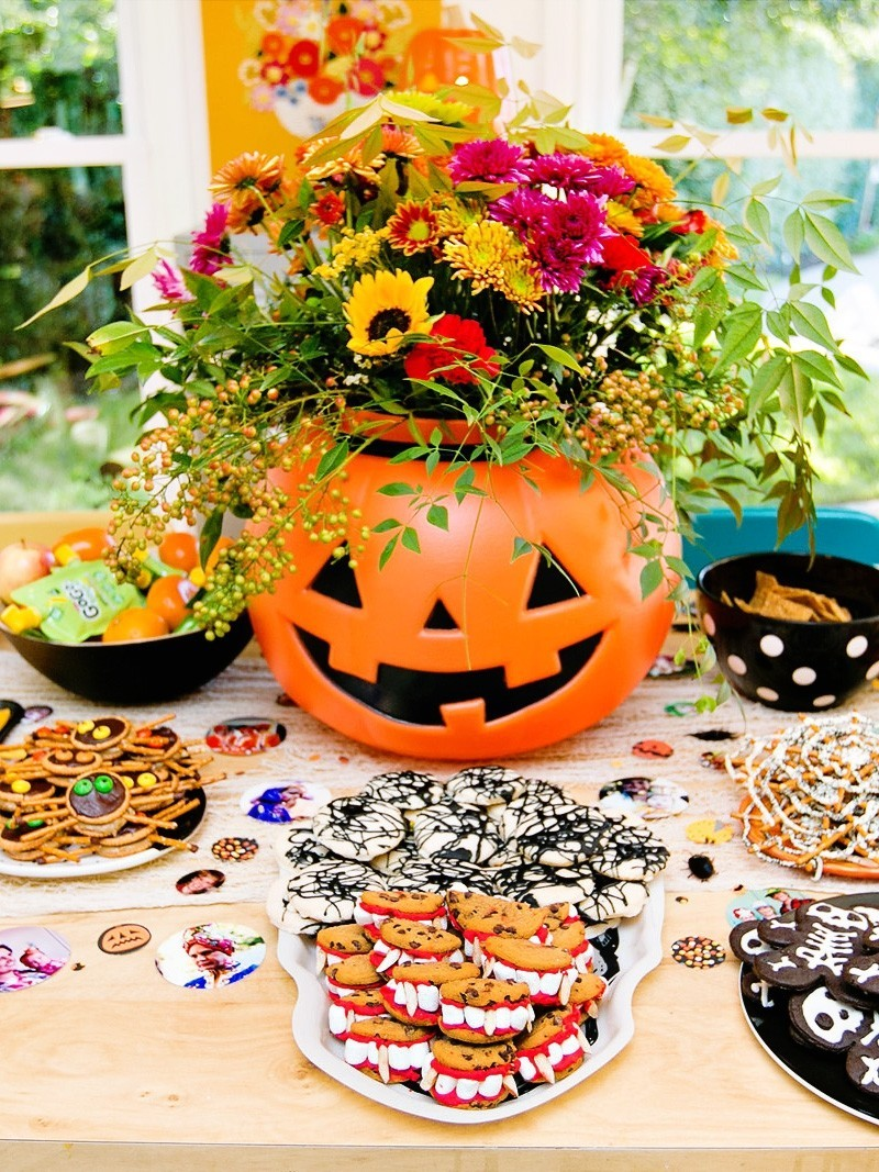 party tischgestaltung halloween deko