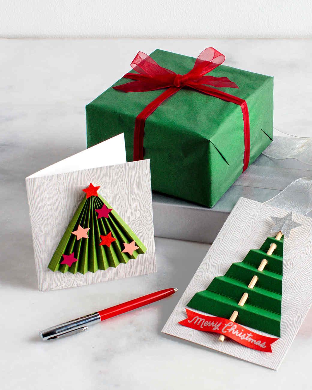 plastisches aussehen weihnachtskarten basteln