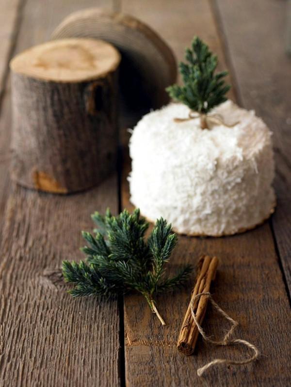 puristische tischdeko winter mit naturmaterialien