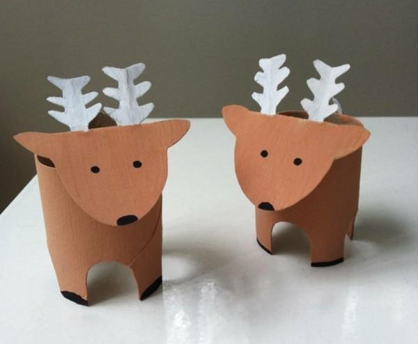 rentier basteln ausgefallene weihnachtsdeko selber machen
