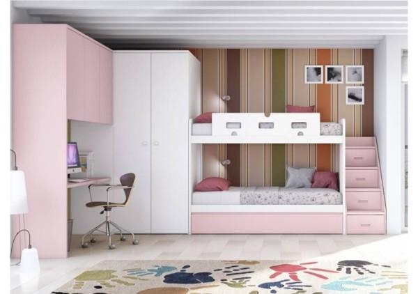 rosa weiße kinderhochbetten