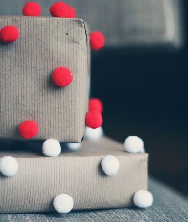 rot weiße bänder geschenkpapier