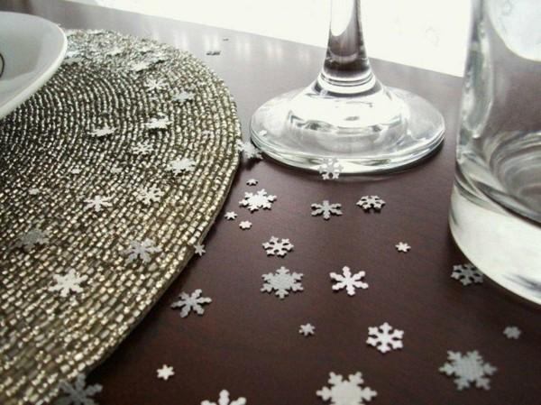 schneekristalle streudeko tischdeko winter
