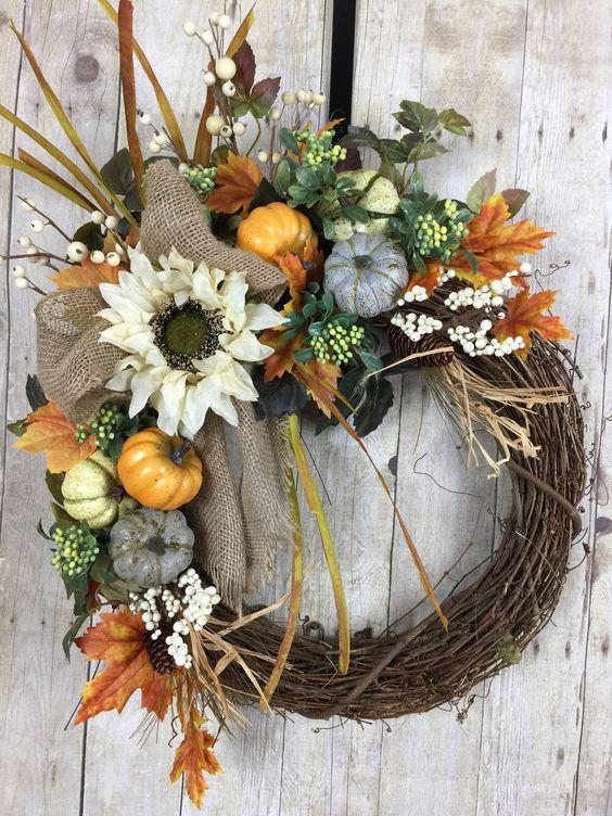 sehr tolle Farben für die Herbstkränze
