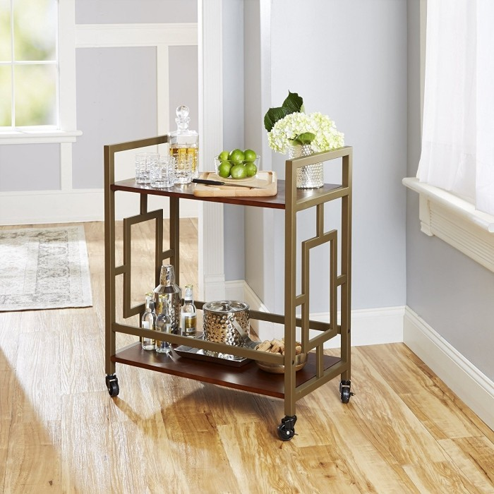 Bar Cart with Granite top Luxury Bamboo Kitchen islands & Kitchen