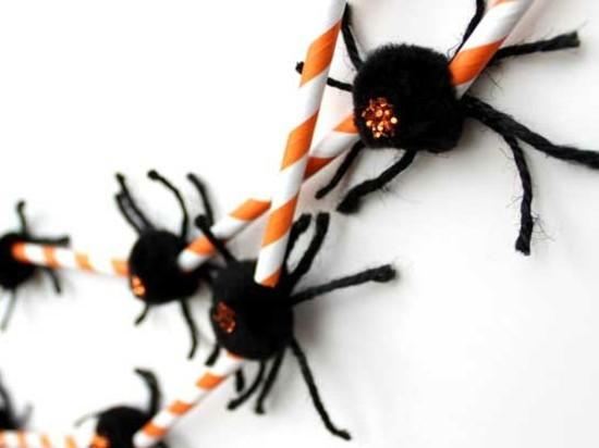 spinne basteln halloween girlande