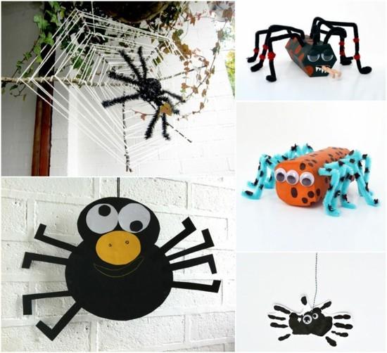 spinne basteln ideen zu halloween