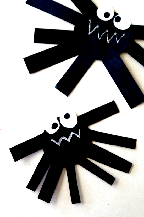 spinne basteln papier deko ideen