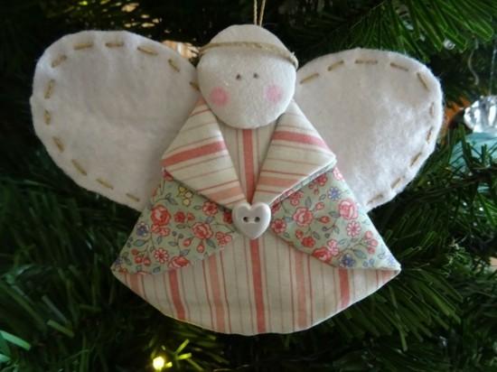 stoff engel basteln zu weihnachten