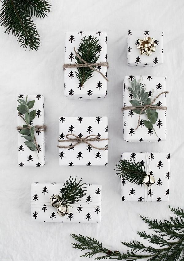 tannebäumchen ideen geschenkpapier
