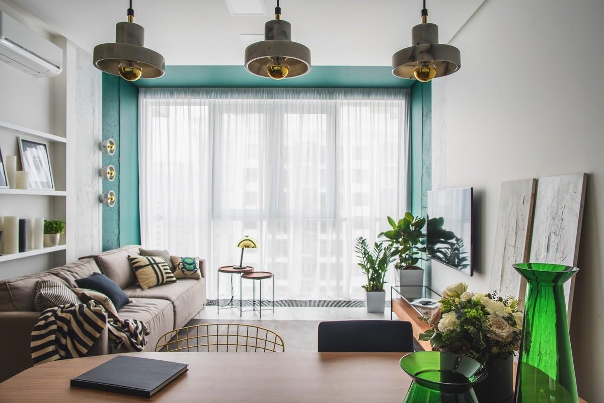 tolle grüne details wohnzimmer farben