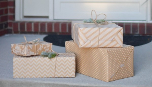 tolle muster und streifen geschenkpapier