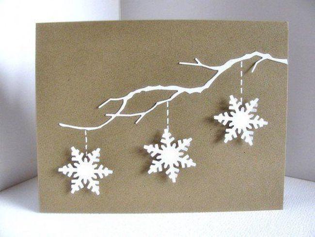 tolle schneeflocken weihnachtskarten basteln