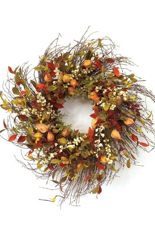 tolle trockenen Blüten Herbstkränze