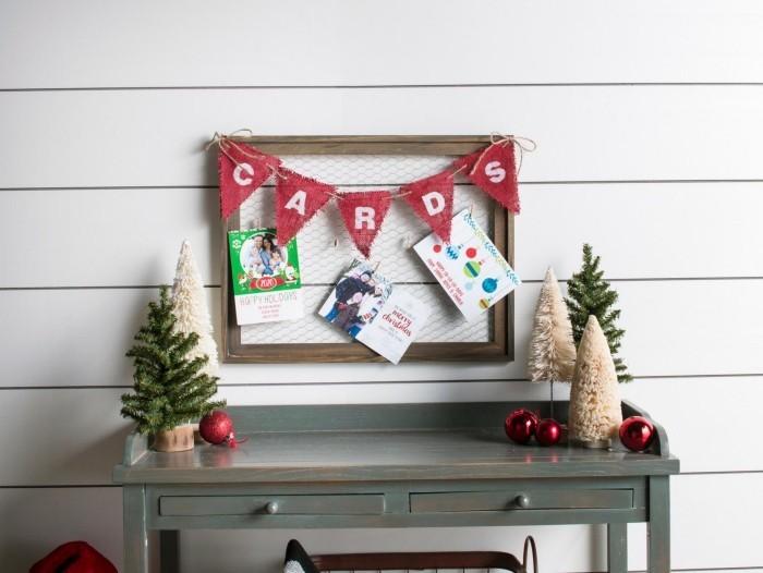 tolle wand weihnachtskarten basteln