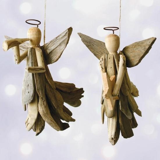 treibholz engel basteln zu weihnachten