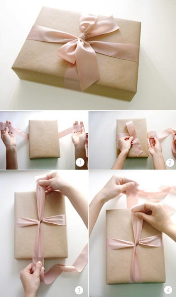 umwickeln der verpackung geschenkpapier