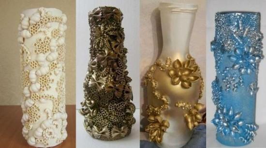 vasen basteln mit nudeln als diy geschenkidee