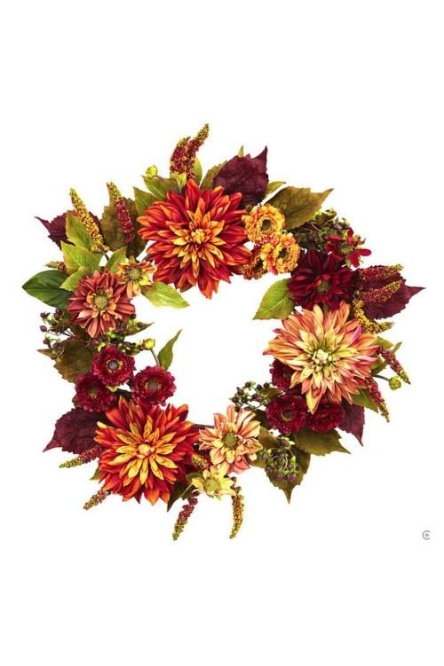 verschiedene tolle Blüten Herbstkränze